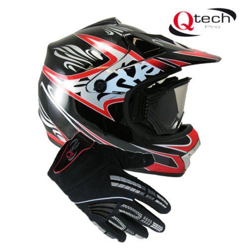 Kids-Childrens-MOTOCROSS-Quad-Crash-HELMET-Goggles-Gloves-Pit-BIke-Off-Road  £49.95