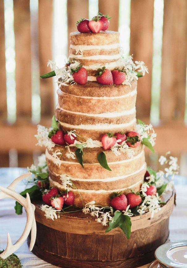 wedding cake.  Love the strawberries on this one.  Just enough, not overdone.