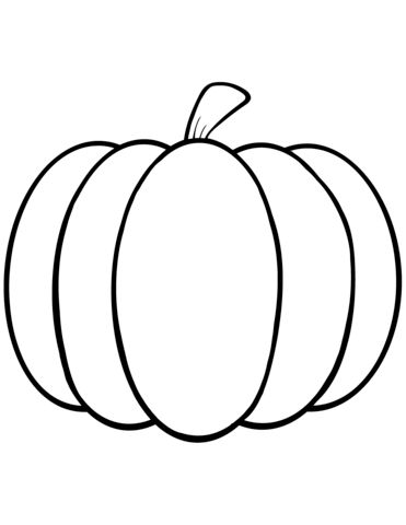 simple pumpkin coloring page from pumpkins category