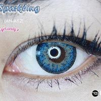 GEO SPARKLING BLUE Circle Lens Fashion Colored Contacts Enlarging Korean Contact Lenses | EyeCandy's