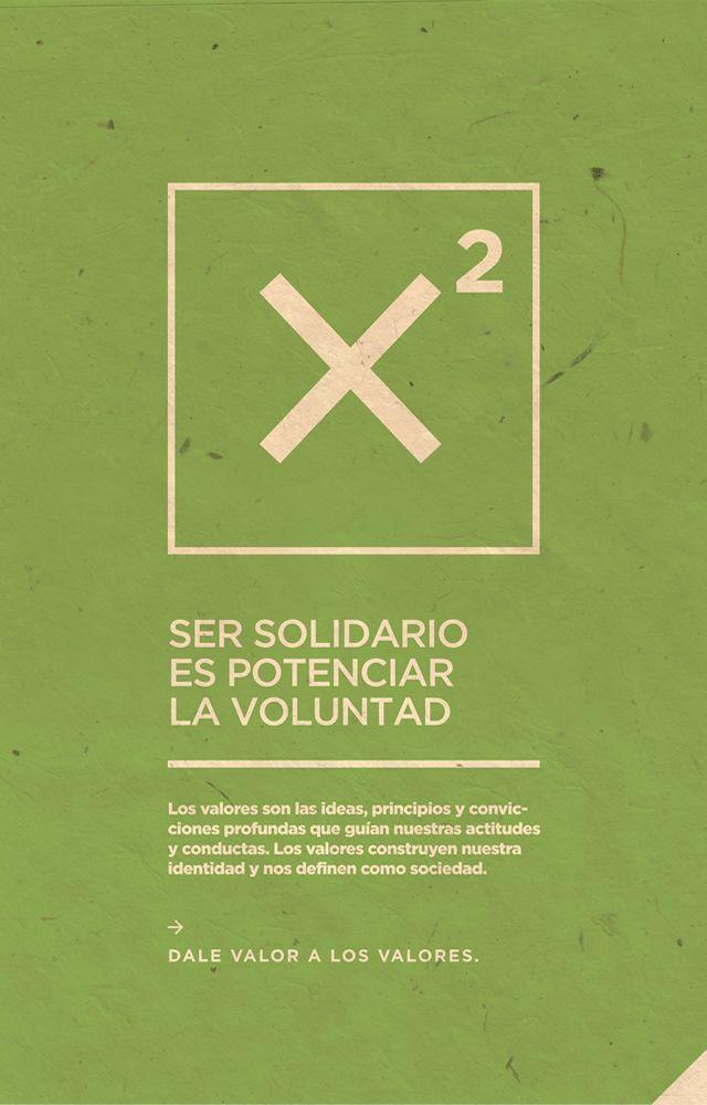 Afiche Solidaridad - Campaña Valores