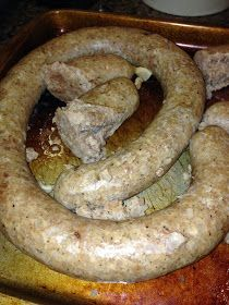 Swedish potato sausage. A Christmas tradition of my family's for years. We served it with a simple white gravy. This is almost the exact recipe.