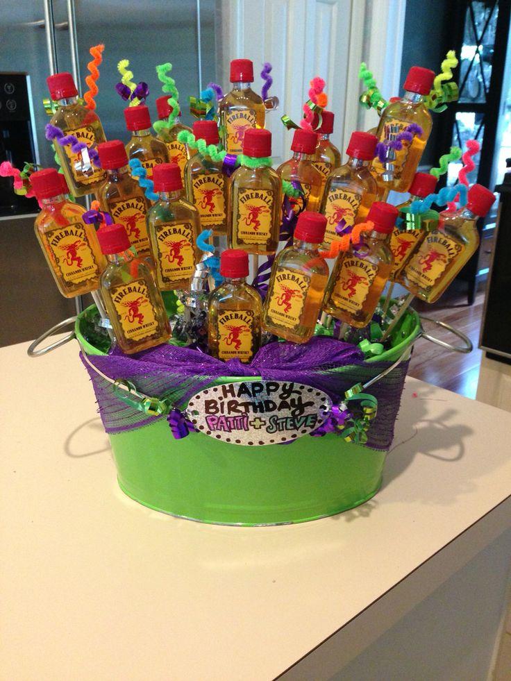 Alyssa really made fireball gift basket this pop
