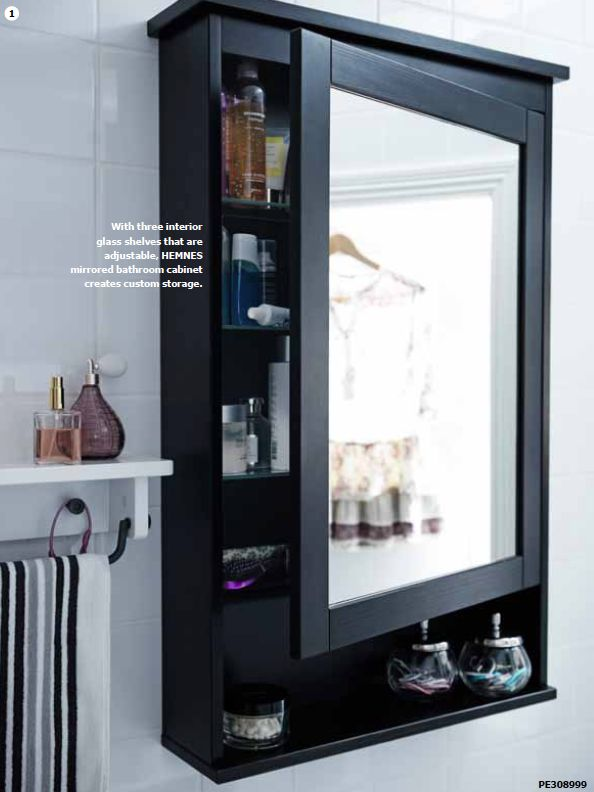 hemnes mirrored bathroom cabinet