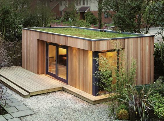 Green roof! // Office/studio, shipping container: