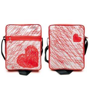 """Geanta Muvit Doodle Heart Tableta 10"""" - Huse"""