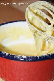 Polewa a'la biała czekolada do ciast