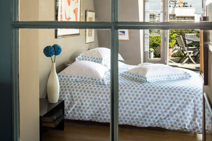 ROLLS - linge de lit brodé en percale blanche de pur coton égyptien #linge de lit #brodé