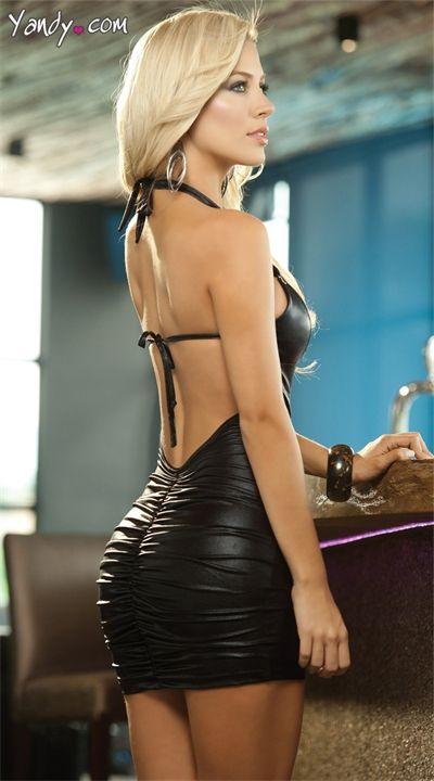 Черные платья мини