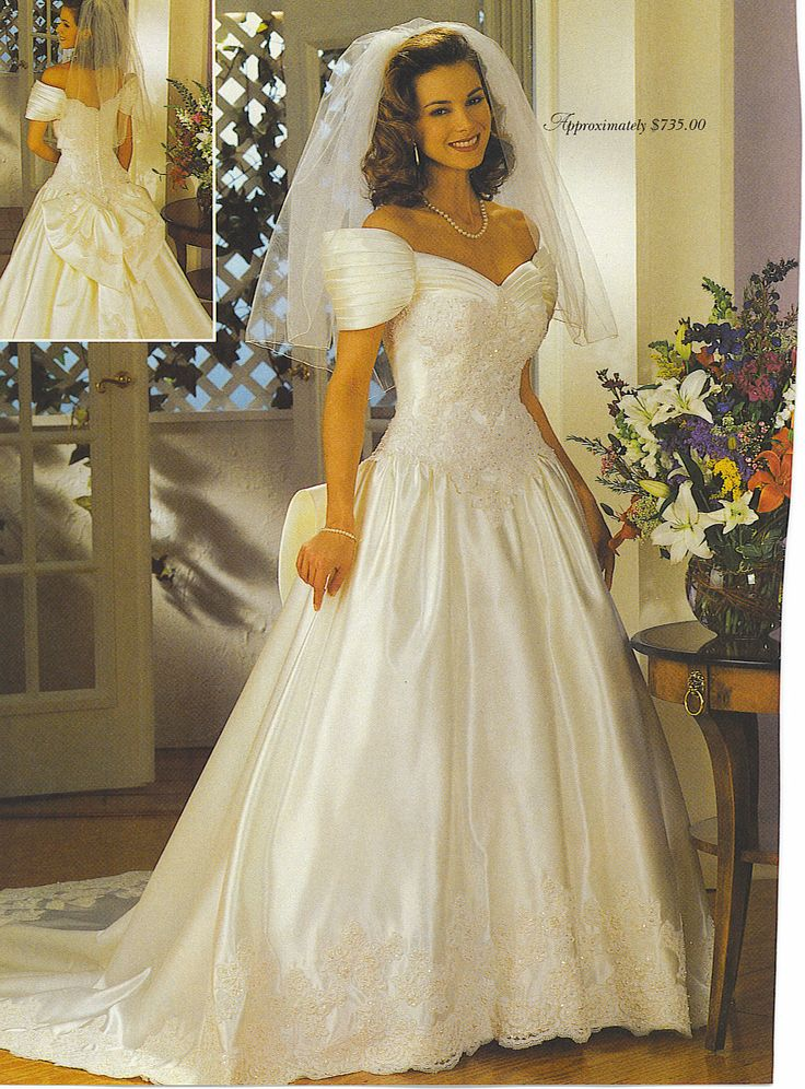 A wedding dress I tried on and almost wore for my wedding