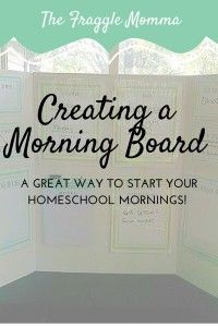 How to create a morning board, a fantastic way to start off your homeschool day. Plus free printables for creating your own