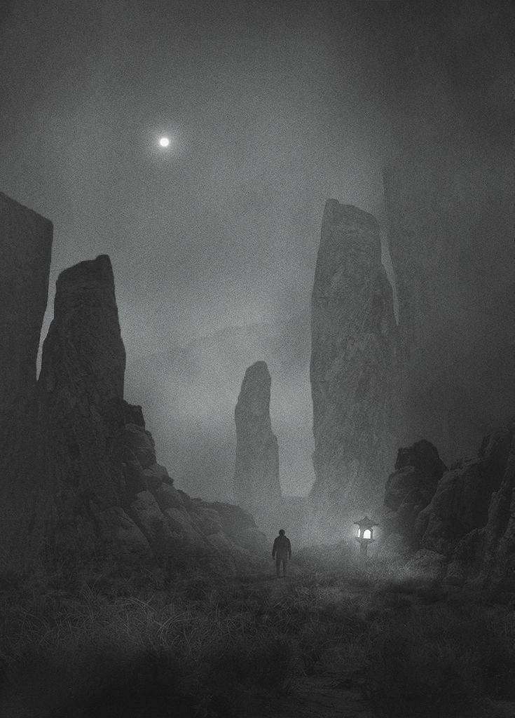 Dawid Planeta lutte contre sa Dépression avec ses Peintures sombres et mystérieuses (17)