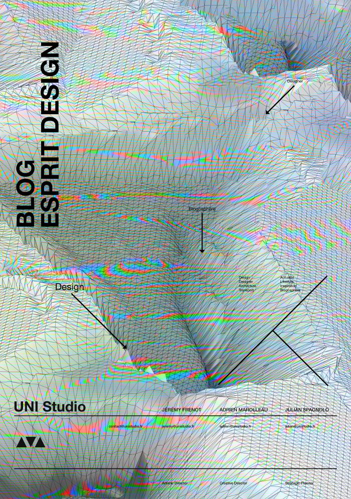 Poster UNI Studio pour Blog Esprit Design Birthday #glitch