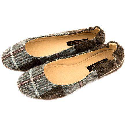 Neidpath Check Ladies Slip-on Shoes - Lochcarron of Scotland