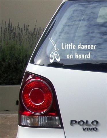 Little dancer Vinyl Vehicle Sticker