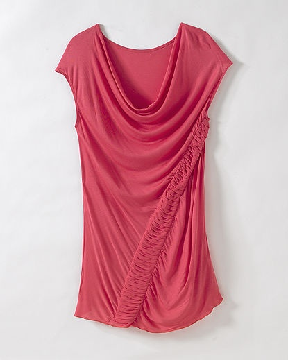 Ruched Pleated Top
