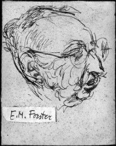 NPG 6326,Edward Morgan Forster,by Feliks Topolski