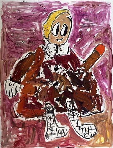 André Butzer, Untitled (Frau)
