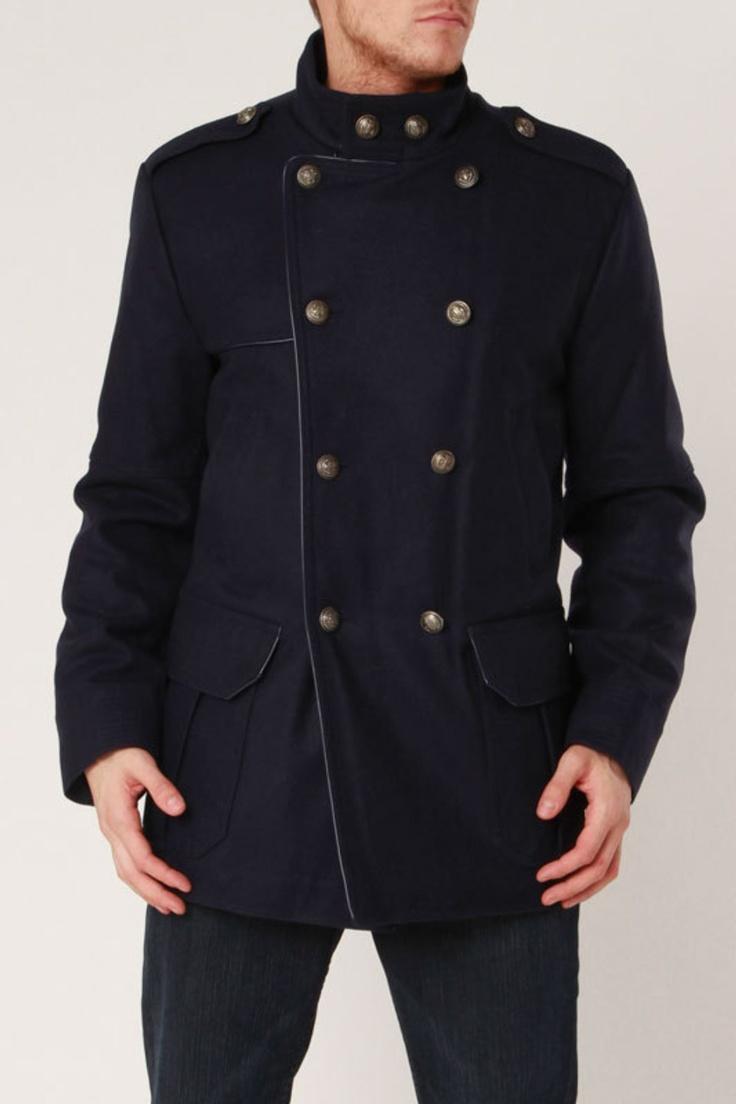 Brandon Coat In Navy