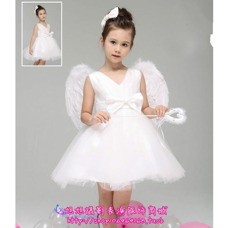 Little Angel Costume flower girl angel with wings tutu white woman bridesmaid dress veil-in Dresses from Mother & Kids on Aliexpress.com | Alibaba Group