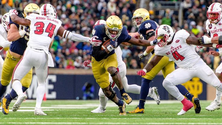 Josh Adams, Notre Dame continue playoff push against NC State - College Football Nation Blog- ESPN