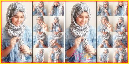 Tutorial Hijab Segi Empat Tanpa Jarum Yang Fashionable   arenawanita.com