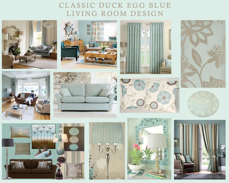 Duck Egg Blue And Cream Living Room