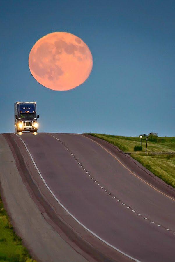 Super Moon on July 12, 2014 - by Dakotagraph -  Super Moon Trucker