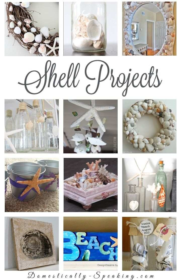 Shell Projects: DIY Seashell Crafts that are a great way to add some beachy / coastal decor in your home for summer or anytime.