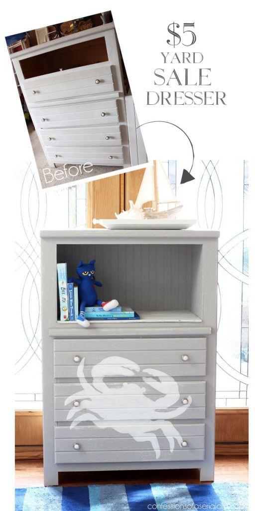 5 Yard Sale Dresser Redo Dresser MakeoversFurniture