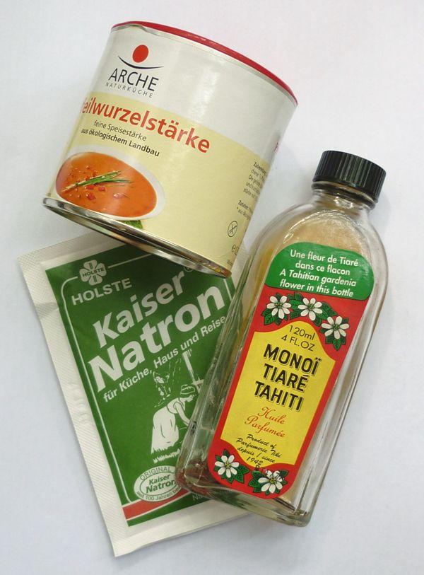 Deocreme selbst herstellen, Kokosöl, Stärke, Natron,