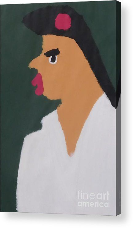 Patrick Francis Acrylic Print featuring the painting Portrait Of A Woman With Red Ribbon 2014 - After Vincent Van Gogh by Patrick Francis