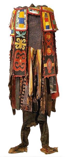 Egungun (Part of the Yoruba pantheon of divinities) Costume.  //