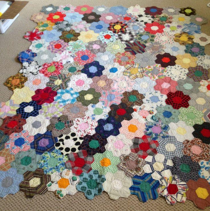 Grandmother S Flower Garden Quilt Kit Fasci Garden