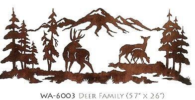 """60"""" Deer Family Iron Scene"""
