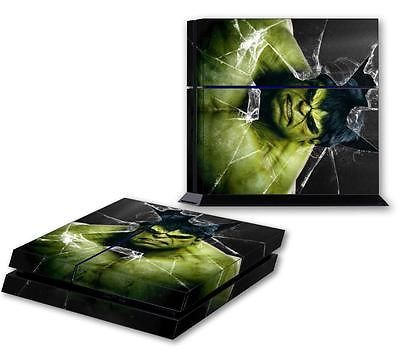 THE INCREDIBLE HULK PS4 Skin Vinyl Decal PlayStation 4 Console Sticker 060