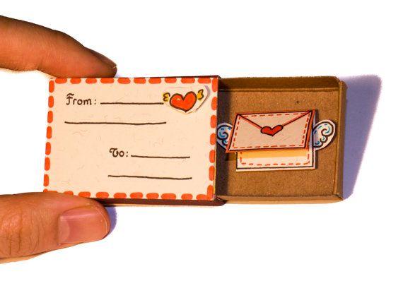 Anniversary Love Card I love you Matchbox / Gift box / door shop3xu