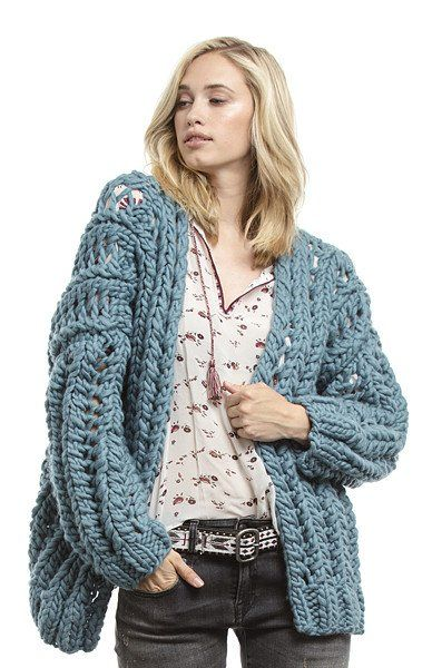 The Third Piece Khloe Cardigan in Funky Chunky Spearmint