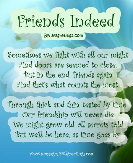 Poems About Friends | Poems for Friends - Messages, Wordings and Gift Ideas