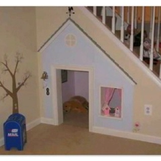 I want to make this for my children. Understairs play den