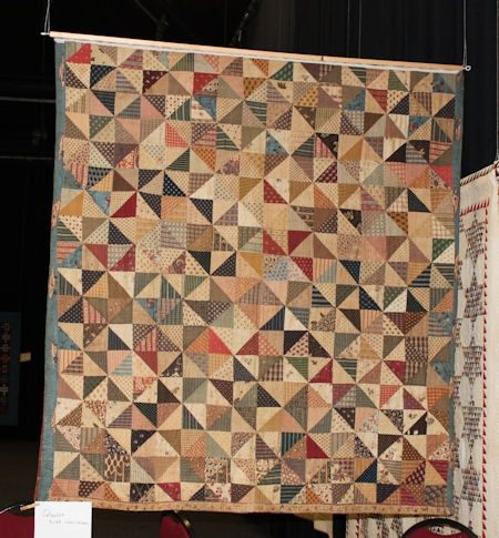this is the back the antique Dutch quilt from the private collection of Joes Master . Petra Prins