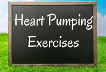 A collection of illustrated heart pumping and cardiovascular exercises you can do from home. #cardio #cardioexercises #cardiovascular