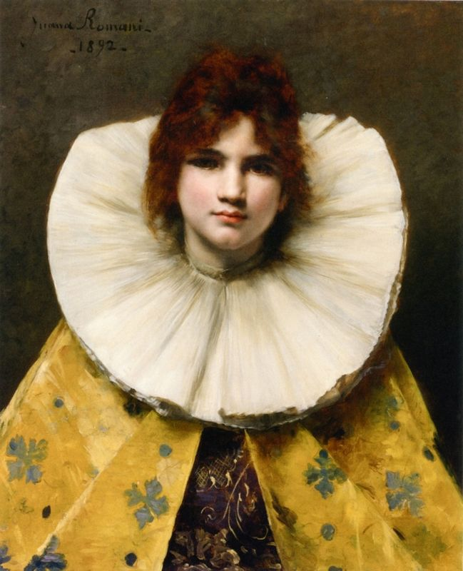Juana Romani (1869–1924) was an Italian painter, student and model of Ferdinand Roybet and Jean-Jacques Henner.
