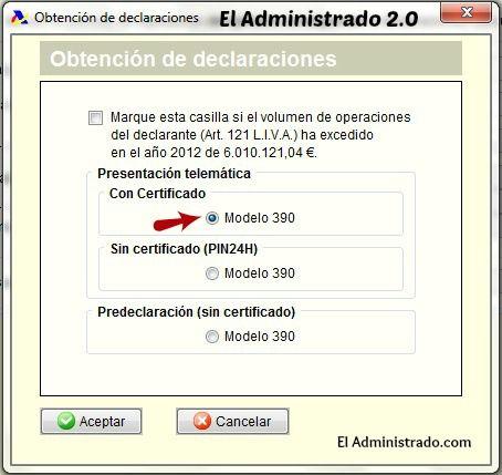 Cómo presentar la declaración anual del IVA (modelo 390) con el certificado digital