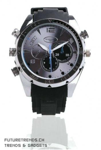 T-Master - Uhr mit HD IR-Kamera 1080P