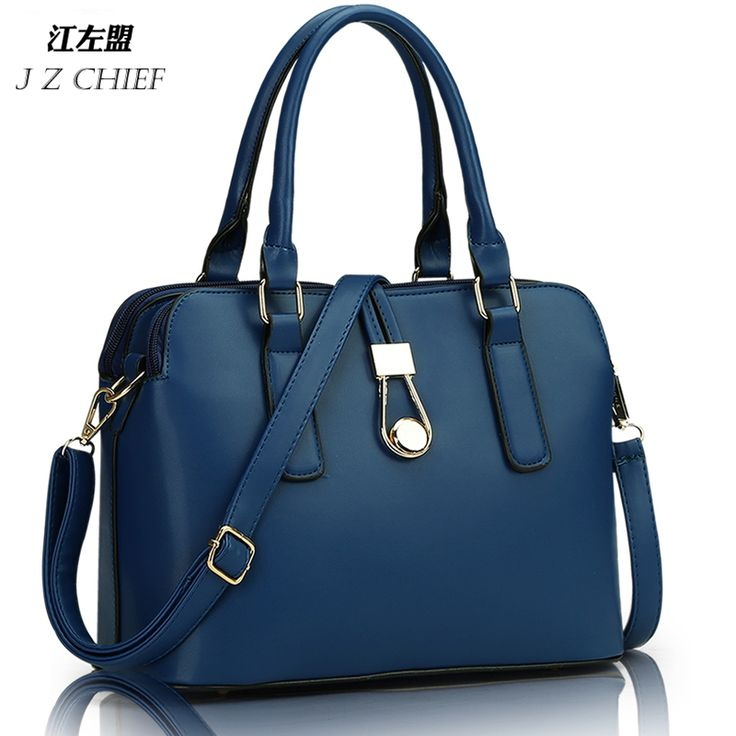 JZ CHIEF fashion business women Messenger Bags high quality office bag double zipper crossboday bag PU leather shoulder bags