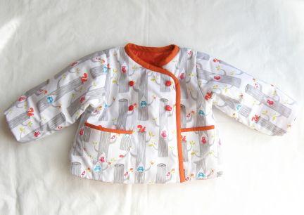 子ども用 中綿入りコートの作り方
