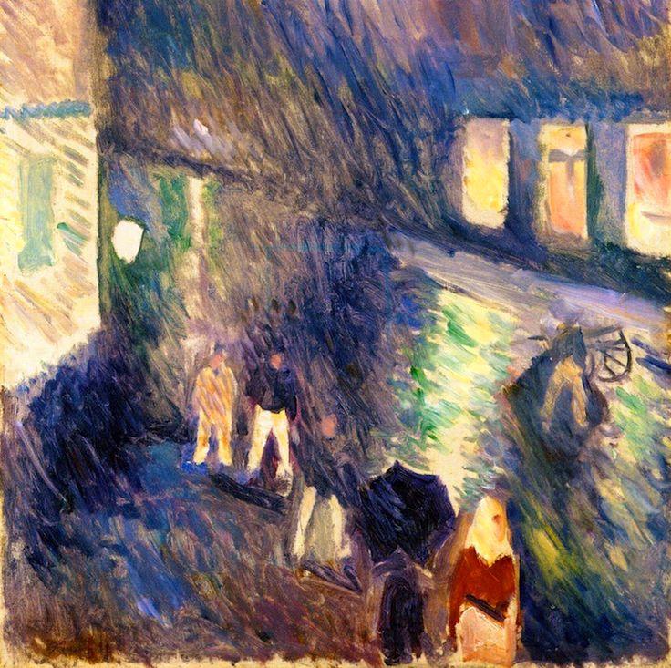 """igormaglica: """" Edvard Munch (1863-1944), Autumn Rain, 1892. oil on canvas, 71.5 x 67 cm """""""