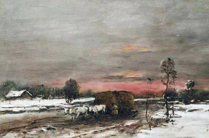 Munkácsy Mihály (1844-1900) - Téli út