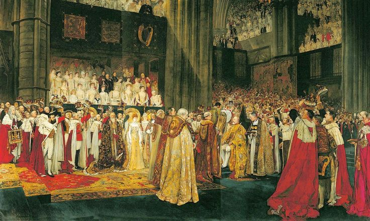 ABBEY, Edwin Austin American Golden Age Illustrator and Muralist (1852-1911)_The Coronation of King Edward VII ca.1902-1907